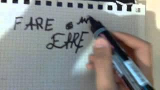 Как рисовать граффити:урок 1 Тег(Тег:придуманая подпись каждава граффитчика., 2014-09-16T18:39:45.000Z)