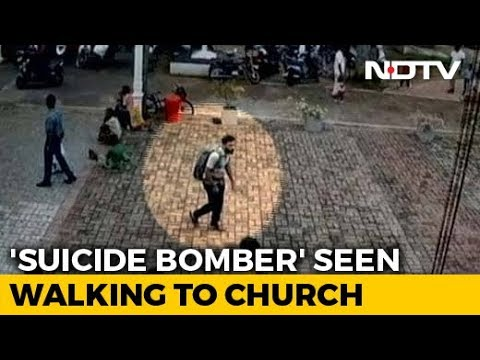 On Video, Alleged Suicide Bomber Pats Girl Before Entering Lanka Church