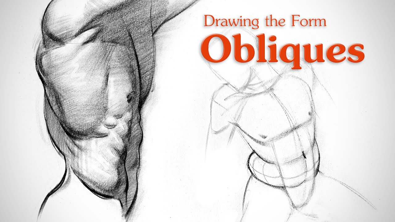 How to Draw Obliques - Form - YouTube