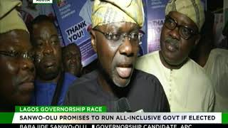 Sanwo-Olu promises all-inclusive govt if elected governor