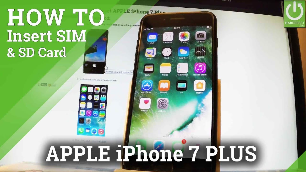 How to Insert SIM in APPLE iPhone 7 Plus - Install Nano SIM Card - YouTube