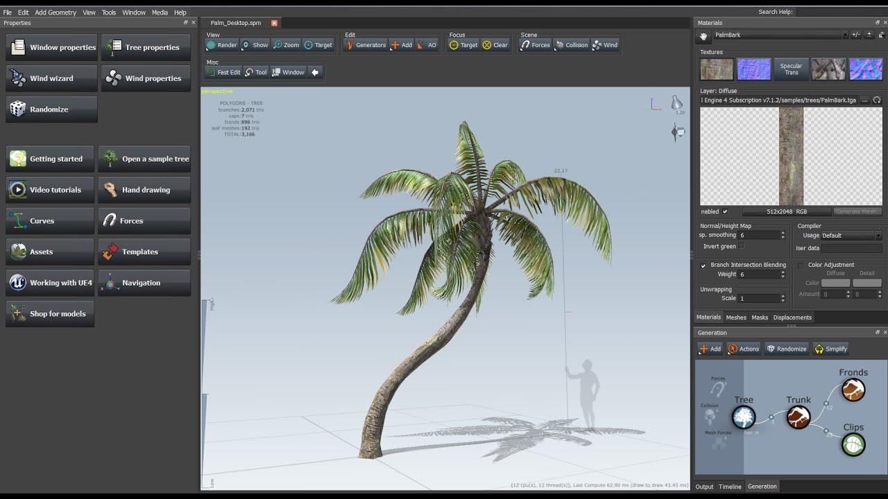 Unreal Engine 4 Le Modeleur Speedtree en détails
