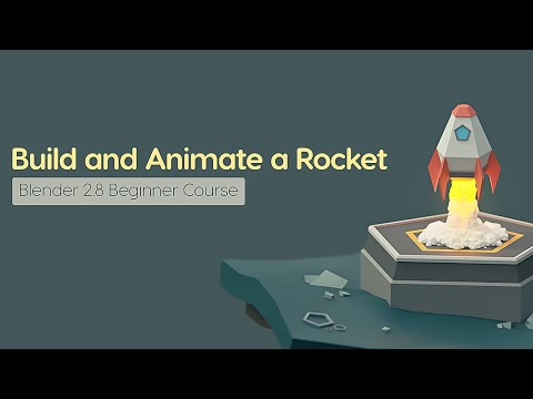 Build and Animate a Low Poly Rocket in Blender for Beginners