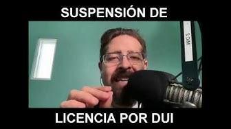 Suspensión de licencia por DUI