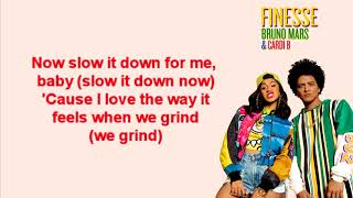 Bruno Mars ft. Cardi B - Finesse Lyrics