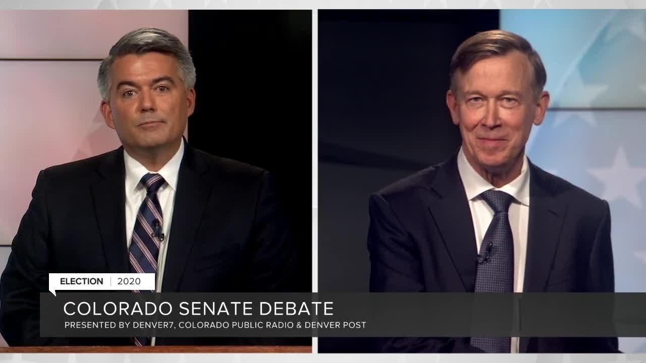 Download Sen. Cory Gardner, John Hickenlooper square off in U.S. Senate debate