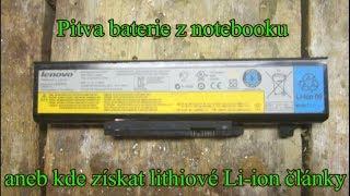 Pitva baterie z notebooku, aneb kde získat lithiové Li-ion články