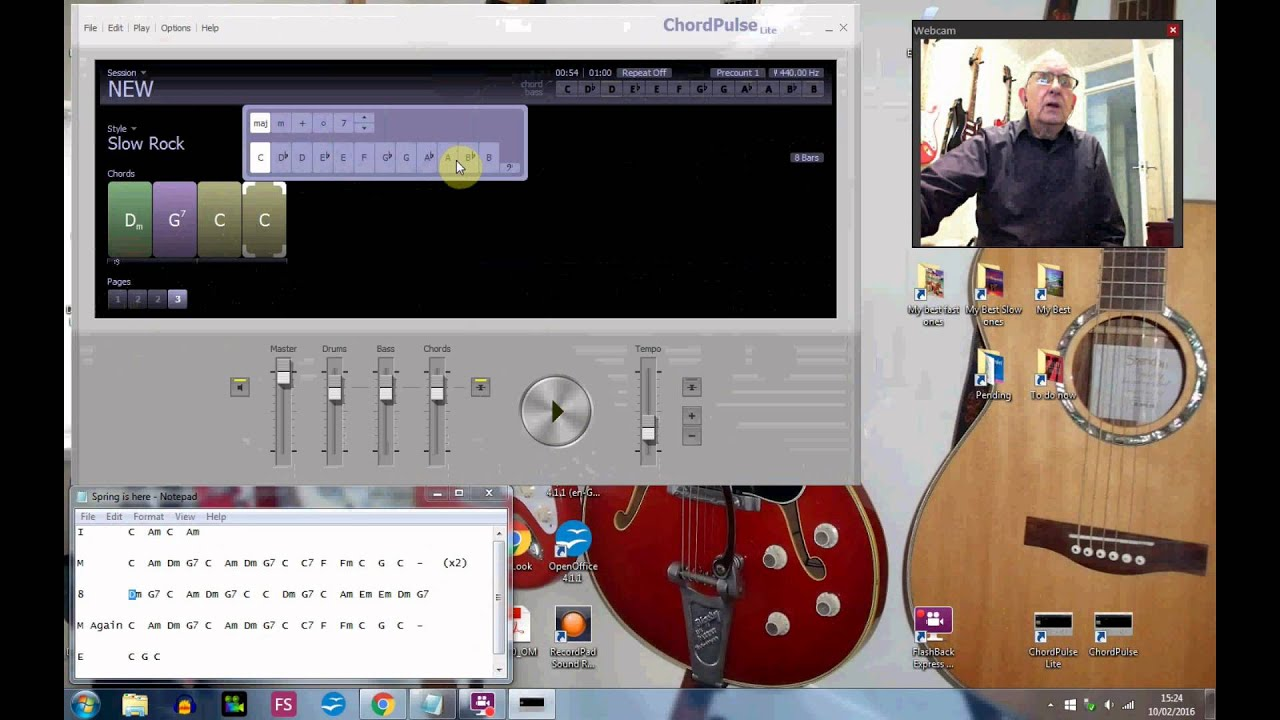 How to make a simple backing track using Chord Pulse Lite