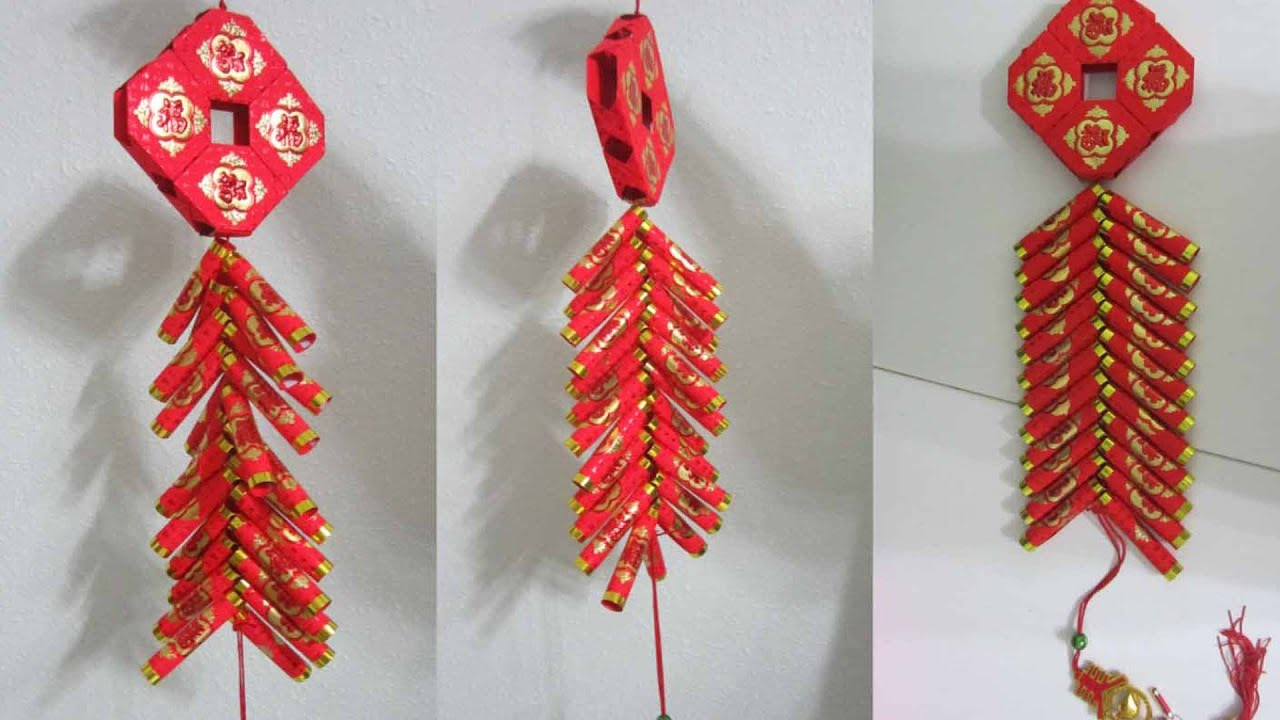 Cny Tutorial No 45 Hongbao Firecrackers 怎么用新年红包做鞭炮