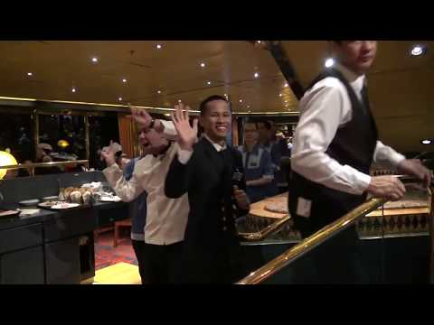 Crew Farewell Parade Holiday Cruise ms 'Rotterdam' HAL on January 6, 2016