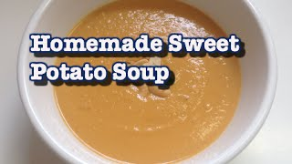 Homemade Fall Sweet Potato Soup // Easy, Quick && Vegan