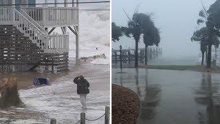 En Caroline du nord, les premières conséquences de l'ouragan Florence se font déjà ressentir