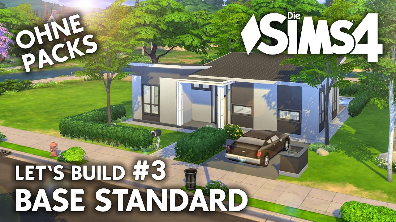 die sims 4 haus bauen ohne packs base standard 3 let 39 s build deutsch youtube. Black Bedroom Furniture Sets. Home Design Ideas