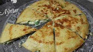 5 dakikada Lavaş Ekmeğinden peynirli tava Böreği #Lavaş Böreği Tarifi#Börek mit Tortillas