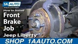 How To Install Replace Do a Front Brake Job 2002-07 Jeep Liberty