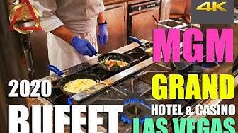 MGM Grand Buffet 🍕🥓🥐🥗🥩🍤🍨☕🥂 [4k] Breakfast Brunch Hotel and Casino 2020 4K / LAS VEGAS