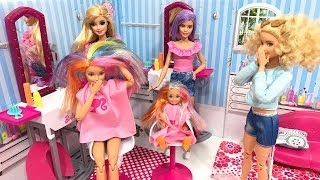 Barbie has RAINBOW hair!! What happened?!