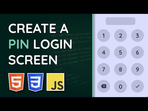 PIN Pad Login Screen In JavaScript - HTML, CSS & JavaScript Tutorial (Project Video)