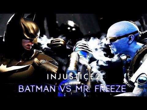 Batman vs Mr. Freeze (INJUSTICE 2) Rival Clashes, Intros, Super Moves