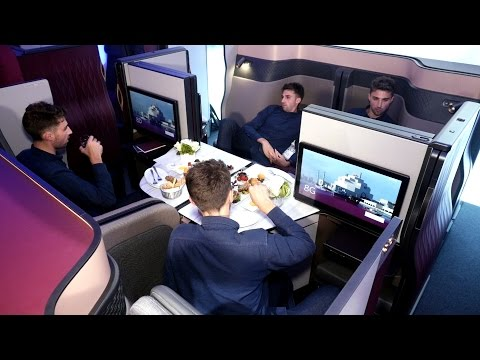 Qatar Airways' new business class seats convert into a double bed | CNBC International
