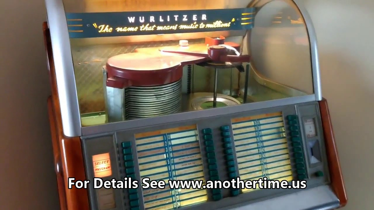 1953 Wurlitzer Jukebox - For Sale July 21-22, 2018