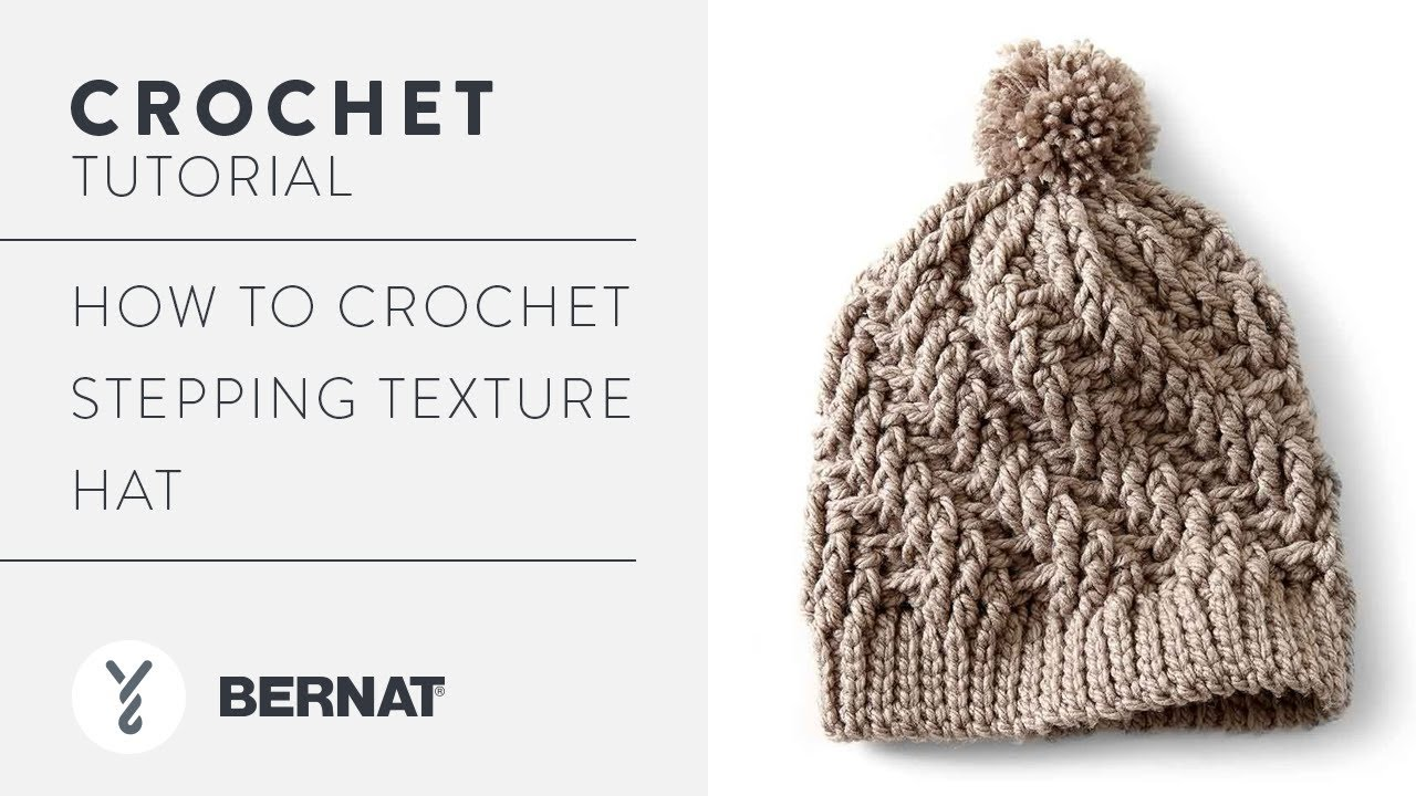How to Crochet Stepping Texture Hat - YouTube