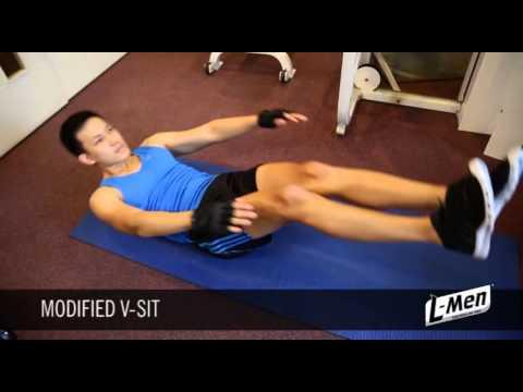Gerakan Latihan Otot Perut Atas - Modified V Sit