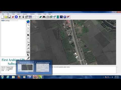 GIS Software Digitizing in Downloaded Rectified Google Earth Satellite image, Convert GIS to HTML