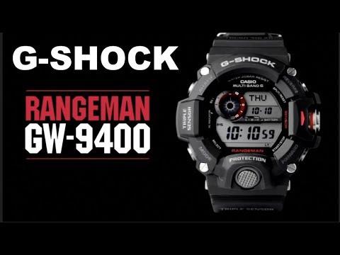 4d5e59398980 Casio G-SHOCK Master Of G Triple Sensor Rangeman GW-9400-1  Unboxing    Review
