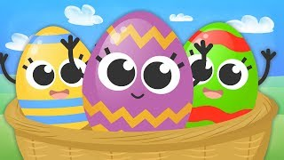 FIVE LITTLE BABIES with Easter Surprise Eggs 🥚 Easter Songs 🥚 Nursery Rhymes for kids