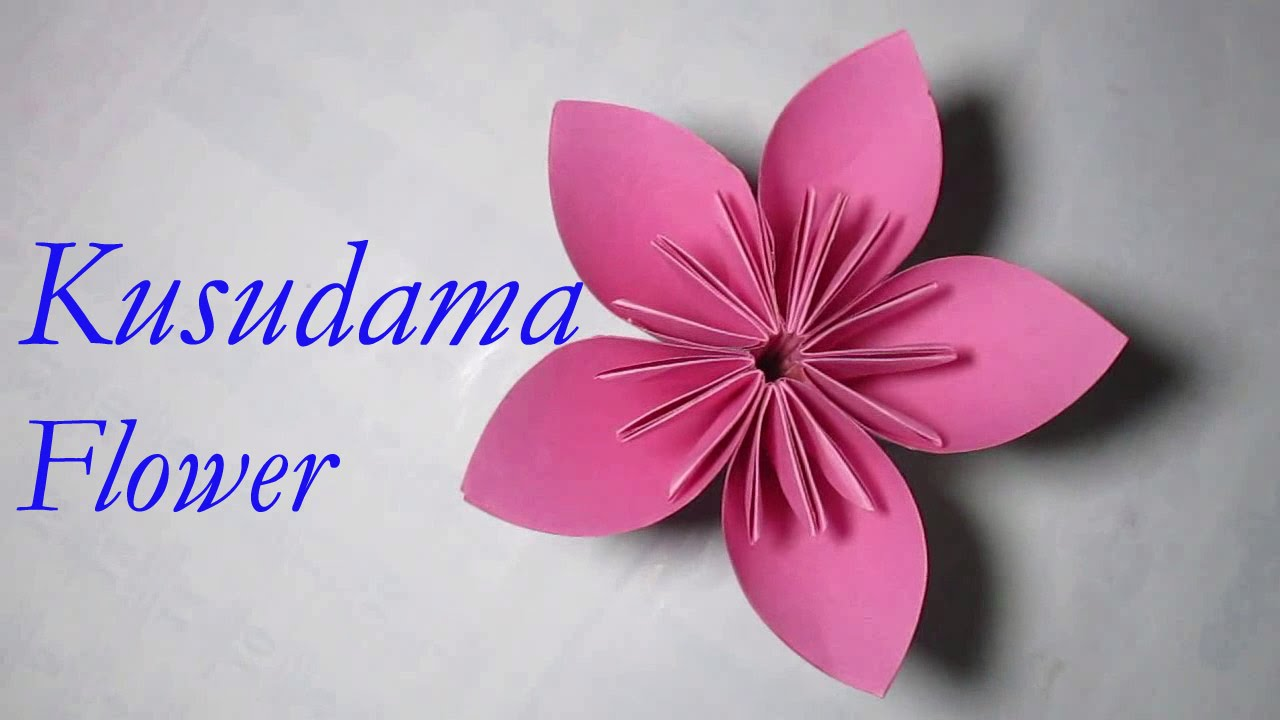 Kusudama flower how to make paper kusudama flower youtube mightylinksfo