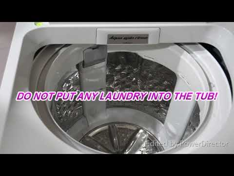 HOW TO DO TUB HYGIENE FOR PANASONIC WASHING MACHINE