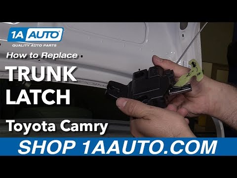 How to Replace Install Trunk Latch 09 Toyota Camry