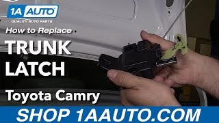 How to Replace Trunk Latch 06-11 Toyota Camry