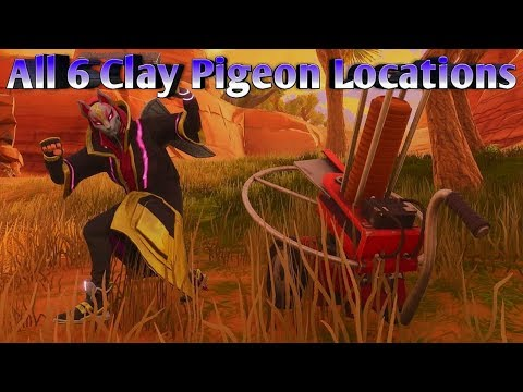 Fortnite Battle Royale - All 6 Clay Pigeon Locations Guide (Week 3 Season 5 Challenges)