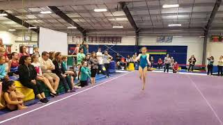 Samantha Bastacky - performing floor routine for Laurie Hernandez
