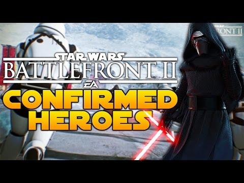 STAR WARS BATTLEFRONT 2 ALL CONFIRMED HEROES SO FAR