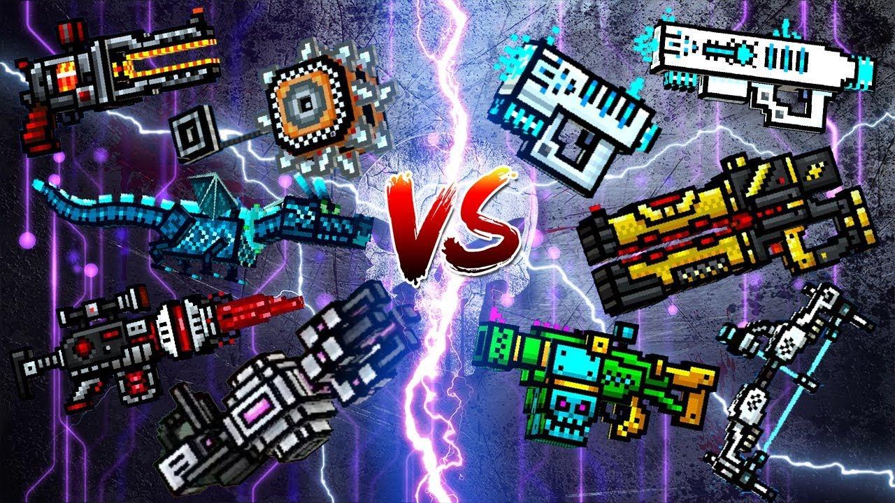 Pixel Gun 3d Wall Break Weapons Vs Ricochet Weapons Youtube