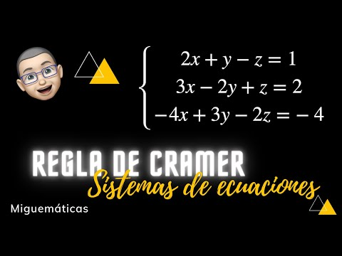 Regla de CRAMER para un sistema 3 x 3