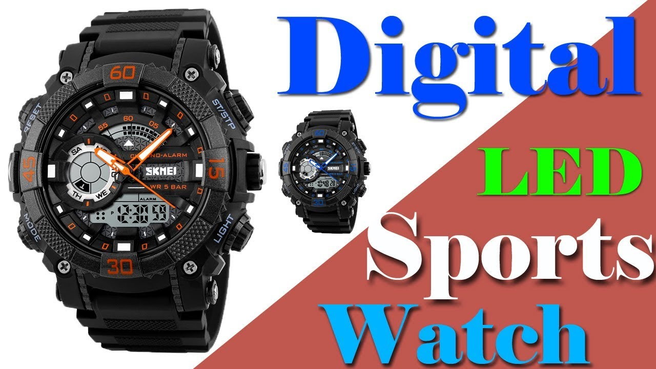 c749a8bfb Best sports watches for men || Digital led watch Under 15$ || - YouTube