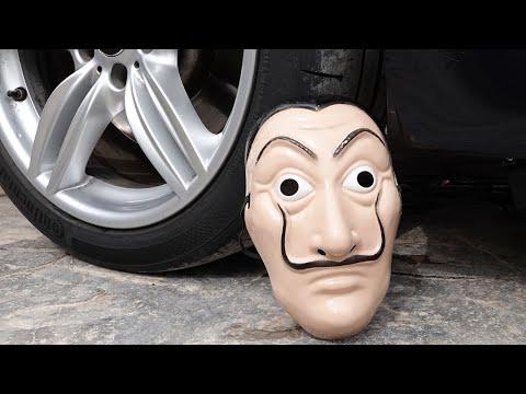 Crushing Crunchy & Soft Things by Car! - EXPERIMENT: CAR VS DALI Mask MONEY HEIST