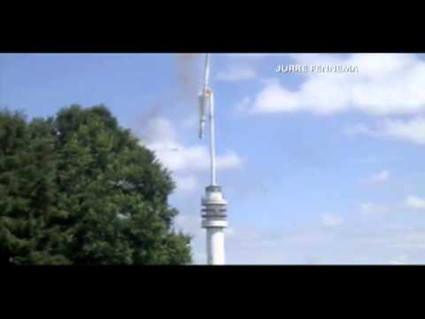Netherlands TV tower topples after fire