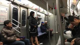 Pussy on the subway