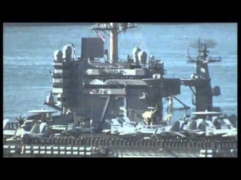 North Korea threats US naval drill involving S Korea, US, Japan and USS George Washington video
