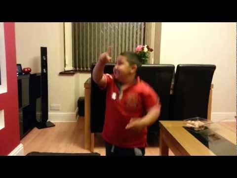 Toddler Dancing to Citizen Khan Theme!