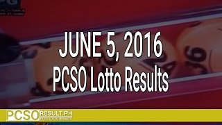 PCSO Lotto Results June 5, 2016 (6/58, 6/49, Swertres & EZ2)