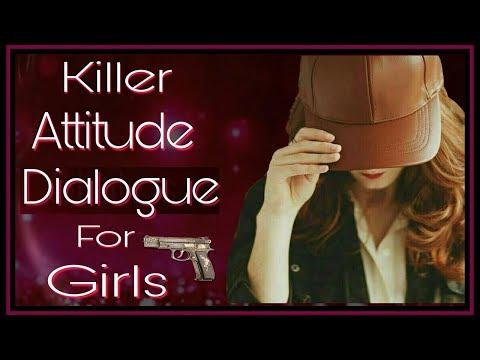 🎭 Attitude Dialogue Status For Girls 👸| Attitude Aisa Jo Kar De Sabki Bolti Bandh 🤐