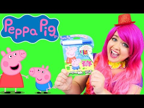 Coloring Peppa Pig & Family Magic Reveal Ink Coloring Book Imagine Ink Marker | KiMMi THE CLOWN