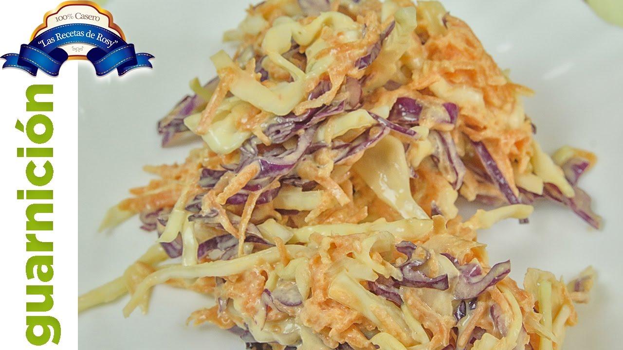 Receta ensalada de col y zanahoria dulce