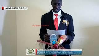 Uhuru Kenyatta NAIROBIASKSHOW English challenge